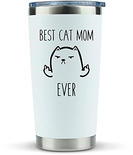 Cat Mom Gifts for Women - Travel Mugs/Tumbler - 20oz Mug for Coffee/Tea-Funny Gifts for Cat Themed Things, Lovers, Crazy Cat Lady Gift