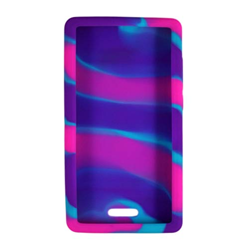"Omnipod"" Dash Gel Skin- Soft Silicone Cover Designed to Protect The Omnipod Dash Device (Pink/Purple/Turquoise Tie-Dye)"