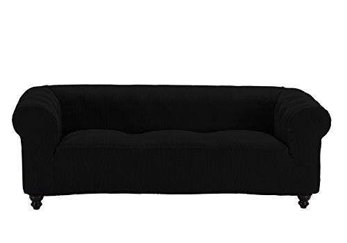 Martina Home Funda Multiélastica para sofá Chester modelo Chipre , Tela, 3 Plazas - color Negro