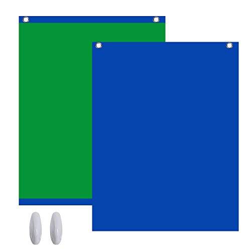 Green Screen 2in1 Fotohintergrund Fotostudio Hintergrund 1,5x2m Grün Blau
