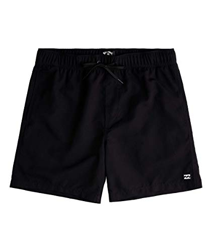 Billabong Men's Standard Classic Elastic Waist Boardshort Swim Short Trunk, 16 Inch Outseam, Black, M