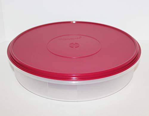 Tupperware Round Pie or Cupcake Keeper, 12-Inch, Sheer (Vineyard Wine)
