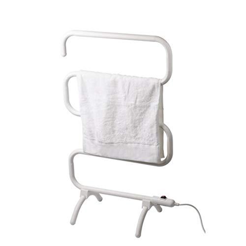 ZYY-Towel rack Toallero EléCtrico De Acero con Bajo Contenido De Carbono, Interruptor A Prueba De Agua, Calentamiento A Temperatura Constante, 100 W, FáCil De Mover, Radiador De Toalla Blanca De Pie