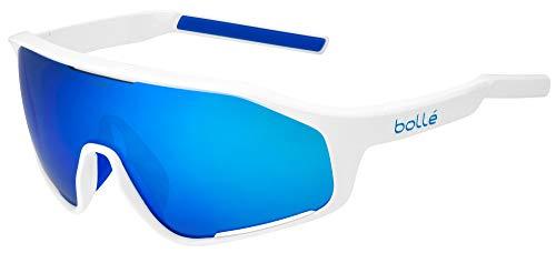 bollé Shifter Sunglasses, Shiny White/Brown Blue, Large Unisex-Adult