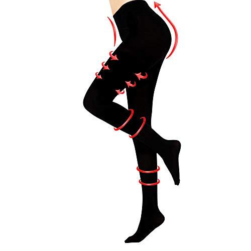 Travel Compression Pantyhose 20-30 mmhg Closed Toe Support Gradient Compression Treatment Women & Men Swelling, Varicose Veins, Edema for Nurse, Flight, Teacher (Black, S)