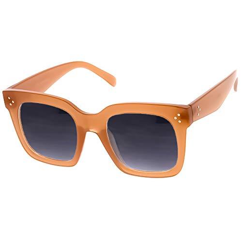 KISS Gafas de sol Magnífico mod. HORNY - moda vintage MUJER glamour diva OVERSIZE 50s 60s - CREMA