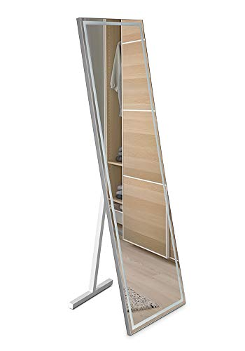 Espejo para el vestidor Modelo Paris, con iluminación led Potente, Cualquier Estancia de la casa, Espejo Alto, Utilizar para vestirse.