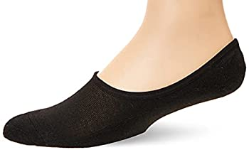 Fruit of the Loom Men s Invisible Now Show Breathable Liner Socks-4 Pair Pack Black/Gray Shoe Size  6-12