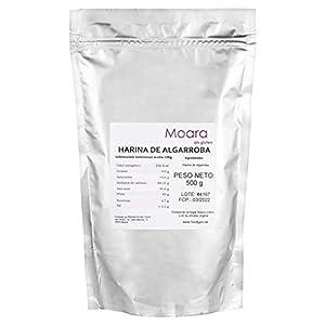 Harina de algarroba sin gluten, sustituto ideal del chocolate y el cacao - Algarrobo en polvo natural, producto vegano (500g)