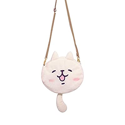 TOMORI Cute Women Anime Kaomoji-kun Emotiction plush kawaii Cat single Cross Body shoulder bag