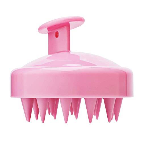 CYWVYNYT Cepillo de champú que se utiliza para exfoliar y masajear el cuero cabelludo. El peine de silicona cuida las raíces del cabello, sin caspa y estimula el crecimiento del cabello (rosa)