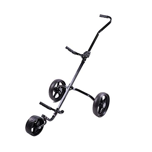 Best Prices! YAOSHIBIAN- Golf Cart Swivel Foldable 3 Wheel Push Pull Cart Golf Trolley Golf Push Car...