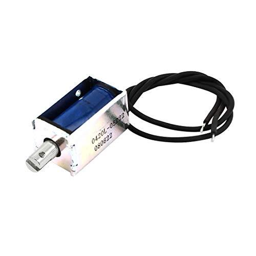 sourcing map DC 5V 0.22A 3mm 20g Kraft Offen Rahmen Magnet Elektromagnet Solenoid