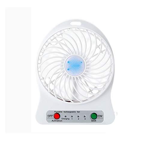 Release Ventilador pequeño portátil Mini de Mano Recargable Mudo Escritorio portátil Dormitorio de Estudiantes Cama Big Wind (Color : C)
