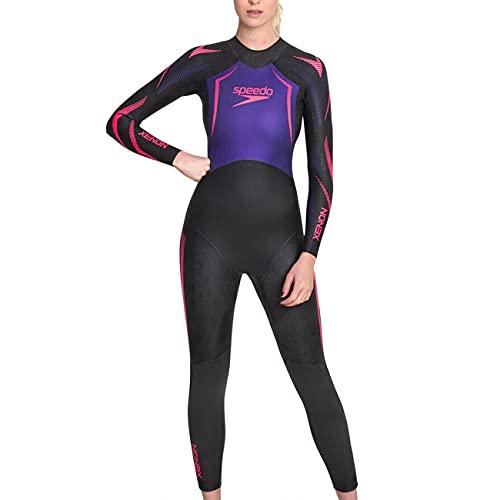 Speedo Xenon Female Fullsuit Traje Neopreno, Mujer, Black/Purple, ST