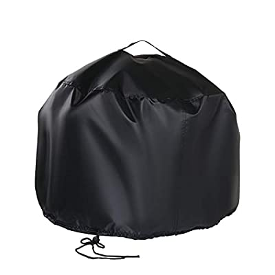 POMER Round Fire Pit Cover ?52 x 37cm - Waterproof Outdoor Durable Fabric Small Fire Bowl Cover with with Handle & Drawstring from POMER