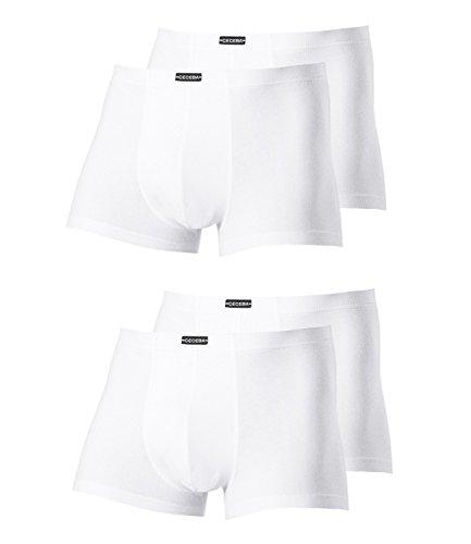 Ceceba Herren Pants 2700 4er Pack, Farbe:Weiß;Wäschegröße:5XL;Artikel:weiß 2700-1000
