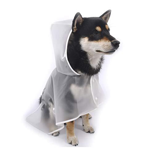 Mit Kapuze Regenmantel, Wasserdicht, Extrem Leicht, Atmungsaktiv, Hund Umhang Jacke Mit Reflektierenden Sicherheitsstreifen, Geeignet For Mittlere Und Welpen Haustiere, Transparente Farbe, Universal,