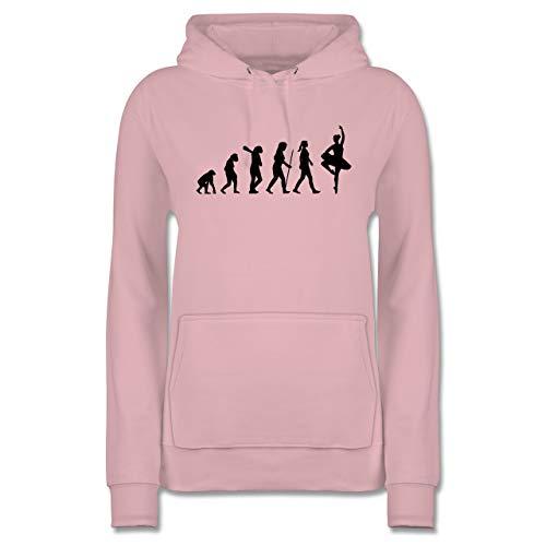 Evolution - Ballett Evolution - S - Hellrosa - Ballett Damen Bekleidung - JH001F - Damen Hoodie und Kapuzenpullover für Frauen