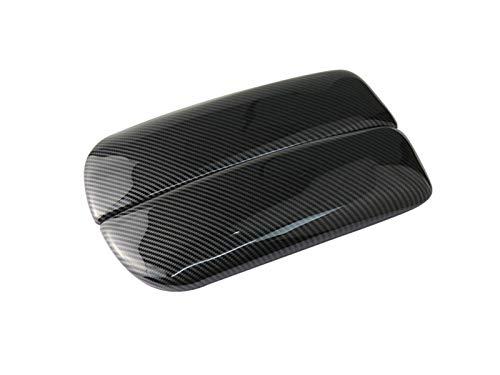 Cubierta panel ajuste Para BMW X5 F15 X6 F16 Fibra De Carbono Estilo Auto Interior Console Armst Box Panel Cubierta Pegatina Y Calcomanías Recortar La Unidad De La Mano Izquierda Pegatinas