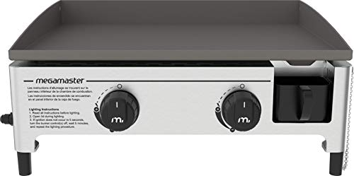 Megamaster 820-0054F Propane Gas Grill, Silver and Black