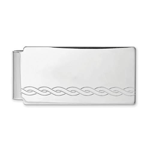 Diamond2Deal Kelly Waters - Pinza para Dinero (chapada en rodio)