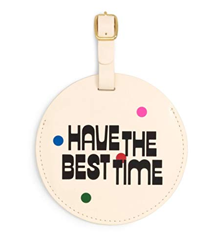 ban.do Women's Getaway Leatherette Circle Luggage Tag with Strap (best time)