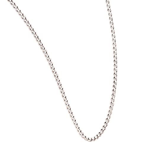 Jollys Jewellers Collar de plata de ley de 47,6 cm (1 mm de ancho) para mujer