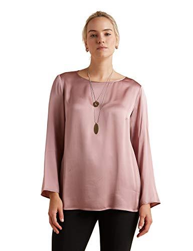 Elena Mirò : Bluse aus Satin mit Halskette Rosa 47 (Italian Size)