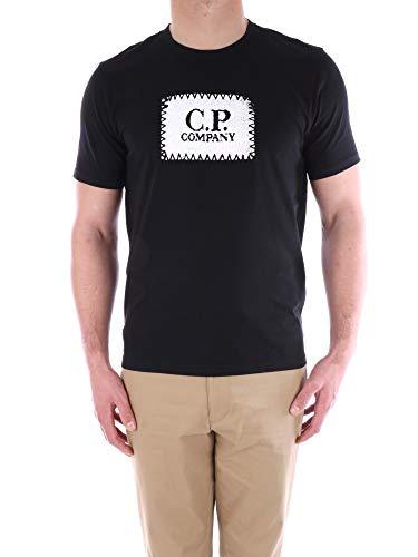 C.P. Bedrijf Heren Blok Logo T-Shirt in Zwart
