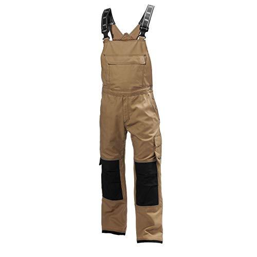 Helly Hansen Men's Workwear Chelsea Construction Bib Pant, Timber/Black - 38W x 32L