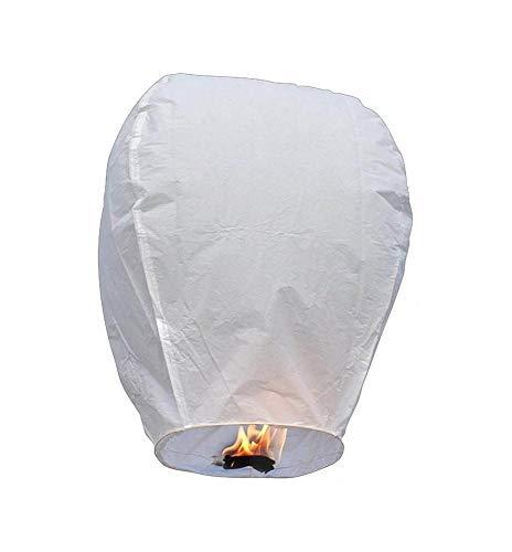 Ky Lantern 1 Pz Bianche Mongolfiera Lanterna Cinese Volante