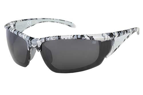 Caterpillar Men's Stator Polarized Sunglasses Rectangular, Matte Camo, 79 mm