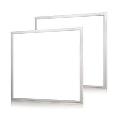 1000LED 2 Pack 2x2 FT LED Panel Light, 36W 0-10V Dimmable Ceiling LED Flat Panel Luminaires 5000k