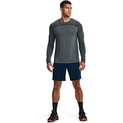 Under Armour Camiseta sin Costuras para Hombre, Hombre, Camiseta, 1361136-012, Gris Pitch...