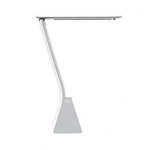 Lámpara de Mesa Lámpara de escritorio plegable Lámpara de escritorio con 3 niveles de atenuación, puerto de carga USB y soporte para teléfonos móviles, 5W Carga y enchufe lámpara de escritorio de dobl