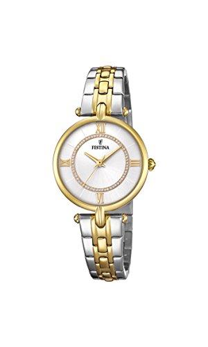 Festina Damen Analog Quarz Uhr mit Edelstahl Armband F20316/1