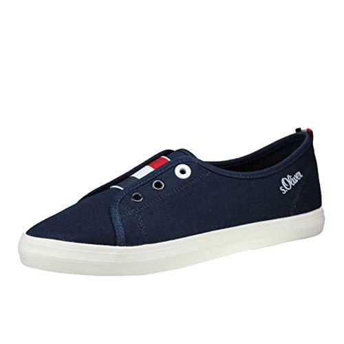 s.Oliver 5-5-24605-32, Zapatillas sin Cordones para Mujer, Azul (Navy 805), 40 EU