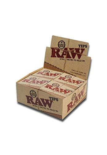 21x Filtros / Boquillas de cartón pre enrolladas Tips Classic RAW (60x15mm)