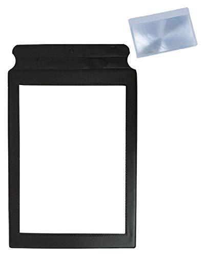 MAGDEPO Lupe, flach, ganzseitige Leselupe, perfekte Lesehilfe für ältere Menschen und Menschen mit schwachem Sehvermögen, mit 1 Bonuskarte Lupe