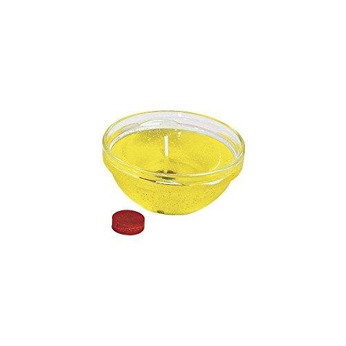 Rayher 3102820 Färbtabletten für Wachs und Kerzen-Gel, gelb, 2 cm ø, Btl. 3 Stück, Kerzenwachs färben