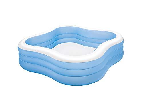 JCCOZ - URG Piscina, piscina familiar niño inflable flotante juego de drenaje juguete 229 x 229 x 56 cm al aire libre fiesta de agua de verano URG