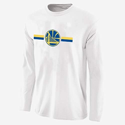 YUNMO Equipo de diversión Nuevo Traje de Apariencia de Baloncesto de Manga Larga Warrior NBA otoño Traje de Calentamiento Transpirable de Secado rápido Camiseta (Color : A, Size : S)