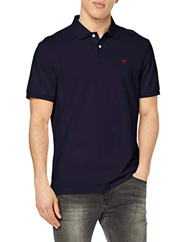 Hackett London Slim Fit Logo Polo, Azul (NAVY 595), Medium para Hombre
