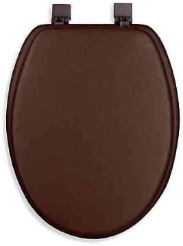 Ginsey Popular product Max 43% OFF Cushioned Elongated Toilet in Chocolate Seat