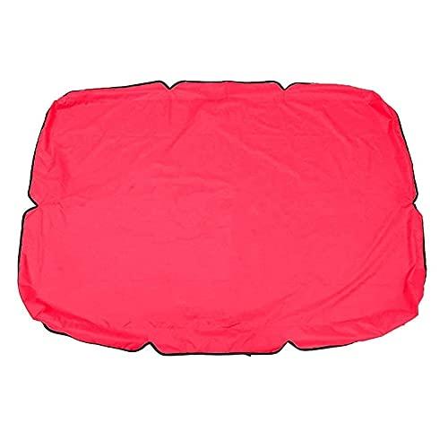 Yueba Cubierta de Repuesto | Cubierta Impermeable del toldo de la Silla del Columpio del jardín | Cubierta Superior de la Silla del Columpio Techo para el Patio del jardín al Aire Libre (2/Rojo)