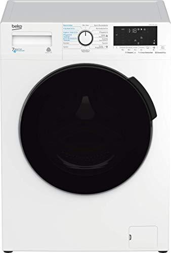 Beko WDW 75141 Steam Waschtrockner/Bluetooth/Dampffunktion/Nachlegefunktion/Prosmart Inverter Motor - 10 Jahre Motorgarantie/Watersafe/A/ 7 kg Waschen/ 4 kg Trocknen Weiß