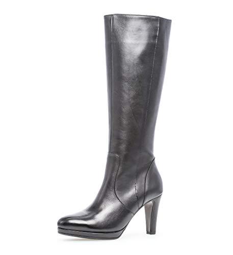 Gabor Damen Stiefel 35.869, Frauen Stiefel,Boots,Lederstiefel,Langschaftstiefel,Reißverschluss,schwarz,42.5 EU / 8.5 UK