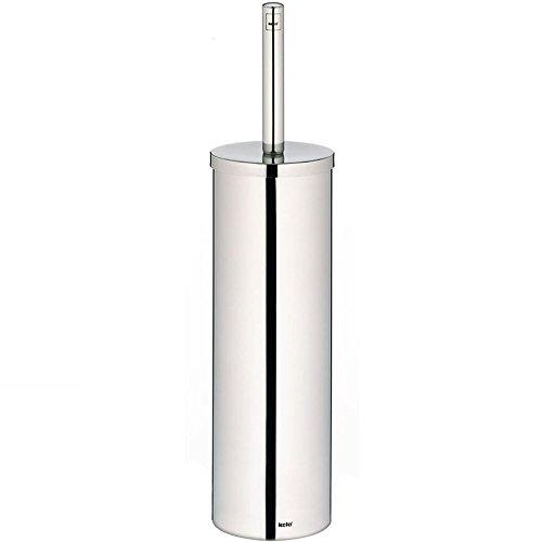 kela WC-Garnitur Intense aus Edelstahl in Silber, 8.5 x 8.5 x 39 cm
