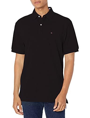 Tommy Hilfiger - Camiseta tipo polo de manga corta para hombre, de corte clásico., Polo de manga corta de ajuste clásico, L, azul marino clásico